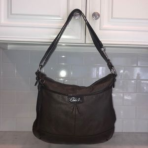 Coach Park Brown Leather Duffle Convertible Bag